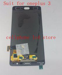 Китай дигитайзер экранного экрана онлайн-Wholesale- Amoled Lcd Screen display+Digitizer Touch Glass Assembly For Oneplus 3 Three A3000 A3003 Replacement Pantalla EU /china version
