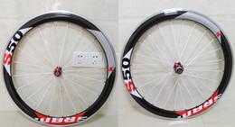 Wholesale Carbon Bike Wheel Sram Hub - Sram s50 alloy brake white spokes wheels full carbon wheel 50mm rim bicycle wheelset with powerway R36 straight pull hubs