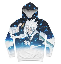 Wholesale Bleach Hoodies - Real USA Size bleach toshiro 3D Sublimation print custom made Hoody   Hoodie Plus Size