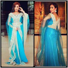 Wholesale Tulle Hijab - 2017 Islamic Muslim Dress Long Sleeve Lace Turkey Hijab Abaya in Dubai Kaftan Evening Dress Beaded Long Abaya Muslim Dress Party Prom