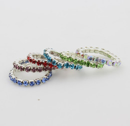 Wholesale Elastic Fashion Ring - 12PCS New Fashion Toe Rings Silver  Gold Crystals Toe Ring Elastic Wholesale Body Jewellery