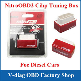 Wholesale Diesels Chip - NitroOBD2 Interface More Power More Torque Plug And Drive Nitro OBD For Diesel Cars OBD ii Chip Tuning Box High Performence