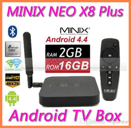 Wholesale Minix Neo Android Tv Box - MINIX NEO X8 Plus 2G 16G Android TV Box Amlogic S802 Quad Core 2.0GHz 2G 16G 2.4G 5GHz WiFi STB102