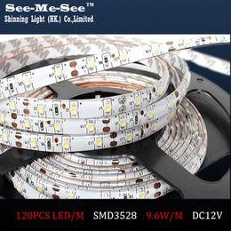 Wholesale Led 35 12v - 50M lot SMD 3528 LED Strip DC12V IP65 Waterproof 120LED M LED Flexible light Ribbon Christmas Decoration SMDT-35-120