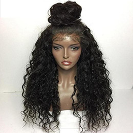 natural curls lace wig Promo Codes - Full Lace Human Hair Wig Curly Loose Curl 360 Lace Wig Malaysian Virgin Hair Pre-plucked Hairline 150 Density Loose Wave Lace Front Wig