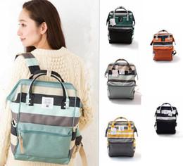 Wholesale Diapers Backpack - Brand Backpack Stripe Japan Unisex Backpack Rucksack Diaper Bag Outdoor Travel Bag Waterproof Shoulder Laptop Bags Organizer KKA2634