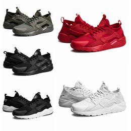 Wholesale Cheap 45 - 2017 cheap Huarache IV Ultra Running shoes Huraches trainers for men & women Black red white shoes Triple Huaraches sneakers size36-45