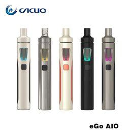 Wholesale Ego Lighted Led - Joyetech EGo AIO Quick Start Kit All-in-one Style Device With 1500mAh Battery and 2ml Atomizer Capacity e Liquid illumination LED Light