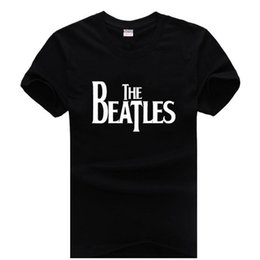 Wholesale Rock T Shirts Xxl - 2017 mens The Beatles t-shirt short sleeves rock 100% Cotton 5 colors XXL free shipping