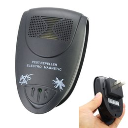 Wholesale Electro Magnetic Pest Repeller - Ultrasonic Mosquito Insect Pest Repellent Repeller mouse Rat Bug killer Electro Magnetic Control US EU Plug Black White
