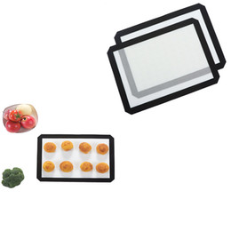 Wholesale Table Pc Inch - 16 1 2 X 11 5 8 Inch Silpat Silicone Baking Mat Silicone Baking Pad For Cake Cookie Macaron Non Stick Baking Liner Tea Table Mat 2 Pcs lot