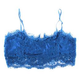 Wholesale Push Up Tubes - Wholesale-Women Bra Bustier Crop Top Lace Floral Unpadded Bralette Bralet Tube Tops