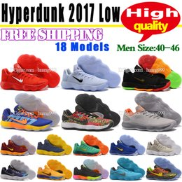 Wholesale U Clear - 2018 New Men Basketball Shoes Sneakers Hyperdunk 2017 Low High Quality Woven Surface Trainer City Los Angeles Sports Shoes 18 Colors Size U