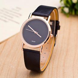 58d59f26f Girls watch leather strap online shopping - Fashion Brand women Girls  leather strap quartz quartz wrist