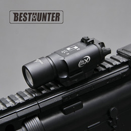 Wholesale White Led Flashlights - Tactical SureFire X300 Ultra Pistol Gun Light X300U 500 Lumens High Output Rifle Flashlight Fit 20mm Picatinny Weaver Rail