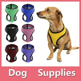 Wholesale Medium Hat Size - OxGord Pet Control Harness for Dog & Cat Soft Mesh Walk Collar Safety Strap Vest 4 sizes 5 colors