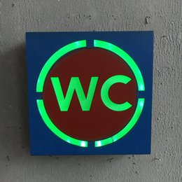 Wholesale wholesale led wall art - Led Warning Plate Retro Style Restaurant Store Bar Personality Square Pendant Creative Wall Hanging Soft Decor Mural 22lj F R