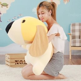 Wholesale Giant Stuff Dog Toys - Hot Lovely 80cm Giant Soft Cartoon Lying Dog Plush Pillow 31inch Stuffed Animal Dogs Doll Toy Gift for Kids