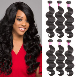 Wholesale Hot Products Colors - Hot Peruvian Malaysian Indian Brazilian Virgin Hair Bundle Deals Body Wave Human Hair Weave Bundles Wholesale Hair Products Free Shipping