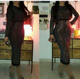 Wholesale tea length white formal dresses - Black Beaded Evening Dresses 2016 Sheath Jewel Long Sleeves Tea Length Zipper Back Saudi Arabic Formal Prom Dresses