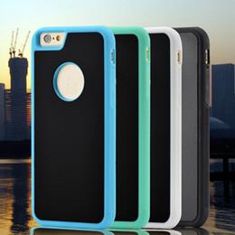 Custodia rigida per smartphone antiruggine TPU Selfie con impugnatura posteriore Nano Technology per Apple iphone 6 6s plus da