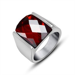 Wholesale Men Garnet Ring - 2017 New Time-limited Metal Party Anillos Jewelry Garnet Rings And Men 's Tail Ring Fashion High - Grade Steel Jewelry