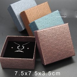 Wholesale Small Ring Display Box - Wholesale Small Gift Boxes for Jewelry Hot Selling Necklace Earrings Ring Bracelet Box Display Jewellery Accessories Packaging Factory Sale