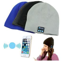 Wholesale Galaxy Beanies - Bluetooth Hat Music Beanie Cap Bluetooth V3.0 Stereo wireless earphone Speaker Microphone Handsfree For iphone 7 Samsung Galaxy S7 Music Hat