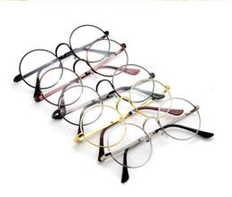 Wholesale Wholesale Mirrors Plain - 5 Colors Harry Potter Glasses Round Eyeglass Frames Halloween Cosplay Black Gold Silver Plain Mirror Fashion Glasses Wholesale