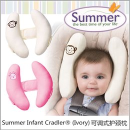 Wholesale Head Neck Protection Pillow - High Quality Summer Infant Cradler Baby Toddler Safty Neck Head Protection Adjustable Travel Sleeping Pad Baby Car Seat Pillow