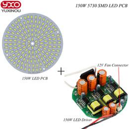 Wholesale Grow Lights Rgb - Wholesale- 1pcs 50W 100W 150W SMD 5730 LED PCB aluminum plate module bulb panel with ac 220v driver for led high bay ligh ,led grow light