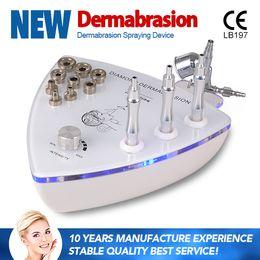Wholesale Diamond Microdermabrasion Equipment - New design Portable Diamond Microdermabrasion Vacuum Spray Facial Skin Peeling Lifting Anti-aging Beauty Equipment with oxygen sprayer gun