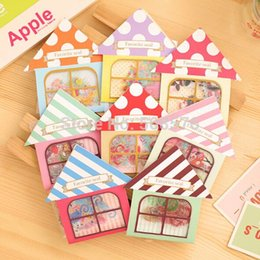 Wholesale Notepad Phones - Phone Paper Sticker Products cute cartoon in house creative design Stickers kawaii stationary 8 series style wholesales