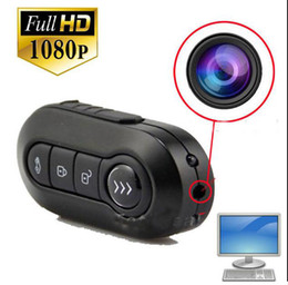 Wholesale Camera Spy Hd Keys - 1080P spy camera cam K1 Car Key Hidden Camera Key mini DV DVR Video Recorde HD Night Vision Motion Detection MINI Camcorders