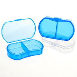 Wholesale Wholesale Secret Storage Boxes - Wholesale-4 Pieces Lot Portable Mini Cute Plastic Pill Box Medicine Case For Healthy Care Empty Secret Stash WithTemporary Storage