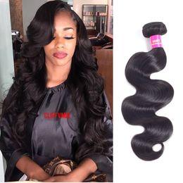 Wholesale Buy Remy Human Hair - Brazilian Hair Body Wave Can Buy 3 or 4 Hair Bundles Human Hair Bundles 1B color Non Remy (18 18 20 22)