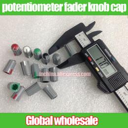 Wholesale 6mm Plastic - Wholesale- 60pcs half-axis potentiometer fader knob cap   mixer plastic cap 17mm*10.7mm hole 6mm 270 degree   black gray red green white