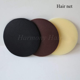 Wholesale Packaging Netting - Free shipping 50 pieces lot Nylon Hair Nets, color Black Brown and White, hairnets is used for package curly hair and wig cap