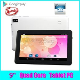 Wholesale 9inch Android Tablet Pc 8gb - Free Shipping 50pcs Allwinner A33 Quad Core 1.5GHz 9inch Dual Cameras Android4.4 Tablet PC 512MB RAM 8GB ROM Bluetooth Wifi Flash