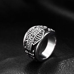 Wholesale Vintage Hip Hop Jewelry - 316 STAINLESS STEEL BIKER VINTAGE RING HIP HOP JEWELRY FOR FREE SHIPPING