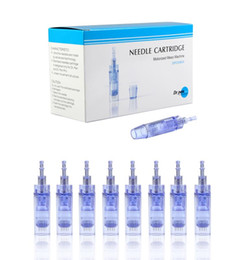 Wholesale Head Lining - Replaceable derma pen cartridges electric derma stamp 1 3 5 7 9 12 36 42 needles dermapen needle cartridge microneedle head for Dr.pen