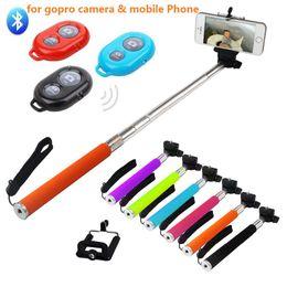 Wholesale Timer Camera Remote Control Wireless - Extendable Selfie Monopod Z07-1 selfie stick Tripod+ Bluetooth Remote Control Camera Shutter +phone Clip Handheld Wireless Self Timer Sticks