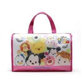 Wholesale Kids Canvas Lunch Bags - Wholesale Fashion Kawaii Tsum Tsum Mickey Minnie Mouse Lunch Bags Women Portable Handbags Famouse Canvas Bag 32*14*23CM Kids Christmas Gifts