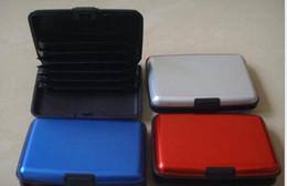 carteras de tarjetas de crédito duras Rebajas Titulares de la tarjeta de identificación de crédito Hombre Cartera de aluminio y plástico con múltiples colores Selecciones de superficie dura Accesorios de moda nuevos