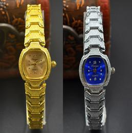 Wholesale women watch bracelet elegant - Fashion Chaoyada elegant Women girl Tonneau quartz exquisite gold silver Metal steel strap Bracelet wrist watch 706
