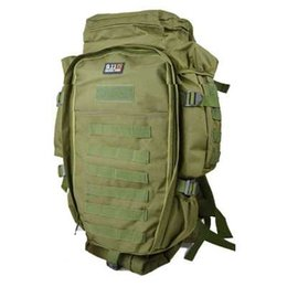 Wholesale Rifle Backpacks - Wholesale-65*40*21cm Fashion Cp ACU Camouflage 911 Military Usmc Army Tactical Molle Nylon Hiking Hunting Camping Rifle Backpack Bag