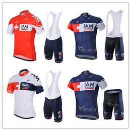Wholesale Iam Cycling - 2016 New Team IAM Cycling Clothes Short Sleeve Men Summer Cycling Jerseys + Cycling Shorts Sets Mountain Cycling Clothing MTB Riding Wear