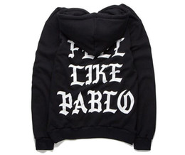 Wholesale Life Like - I feel like pablo hoodie Menhoodies long sleeve fleece the life of pablo kanye west hoodie sweatshirts red blue color