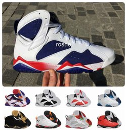 Wholesale Mens Shoes Sneaker Winter - 2016 Newest Retro 7 Tinker Alternate Olympic Mens Basketball Shoes Athletic Sport Sneakers 7s VII Retro Shoes Eur Size 41-47 Free Shipping