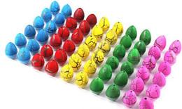 Gags infláveis on-line-Multicolor 60 pcs 2 * 3 cm Crianças Criança Brinquedo Da Mordaça Mágica Inflável Para Escalar Dinossauro Adicionar Água Crescendo Dino Ovos YH143
